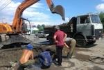 Из-за аварии на водопроводе без воды остался микрорайон Трактовой