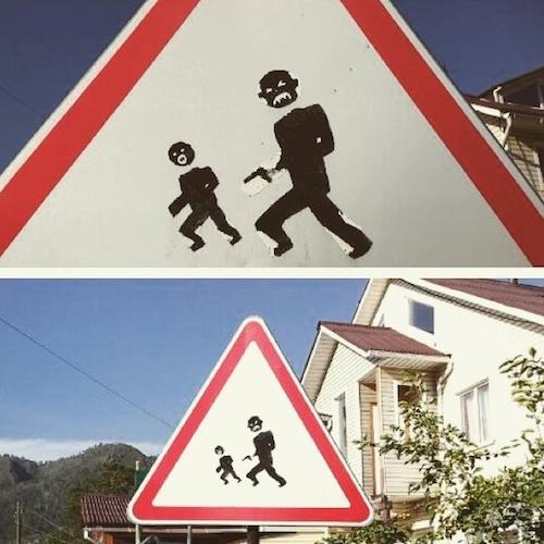 Дорожный знак в Чемале
