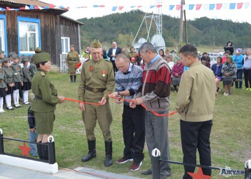 В Озерном открыли памятник участникам Великой Отечественной войны