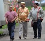 Бывшие главы районов Юрий Яргаков, Леонид Маиков и Виктор Безрученков на фестивале «Родники Алтая»