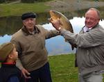 На соревнованиях рыболовов был пойман почти 5-килограмовый карп