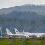В горно-алтайском аэропорту сегодня находились два борта специального летного отряда «Россия»