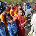 Пандито Хамбо лама Дамба Аюшеев с жителями Горного Алтая