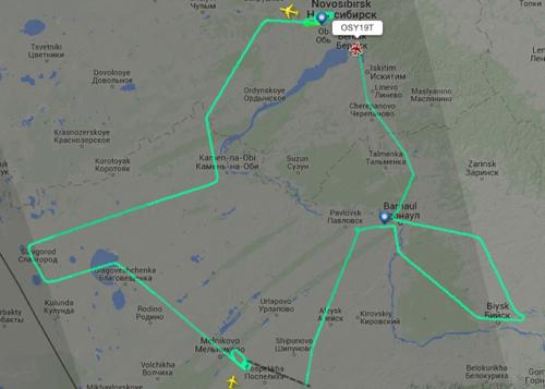 Маршрут натовского самолета-разведчика 2 сентября. Снимок экрана с сайта flightradar24.com