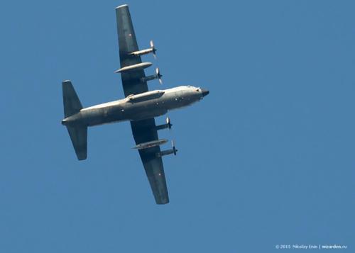 C-130H в небе над Сибирью. Фото: Николай Енин, wizarden.livejournal.com