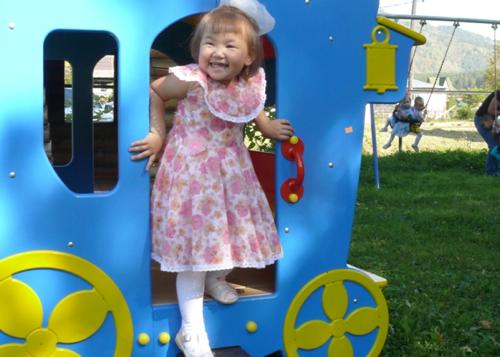 В Доме ребенка открылась игровая площадка