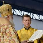Патриарх Кирилл провел богослужение на центральной площади Горно-Алтайска