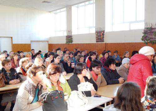 Собрание в турочакской школе.