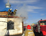 В кош-агачской церкви произошел пожар (фото)