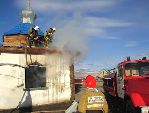 В кош-агачской церкви произошел пожар