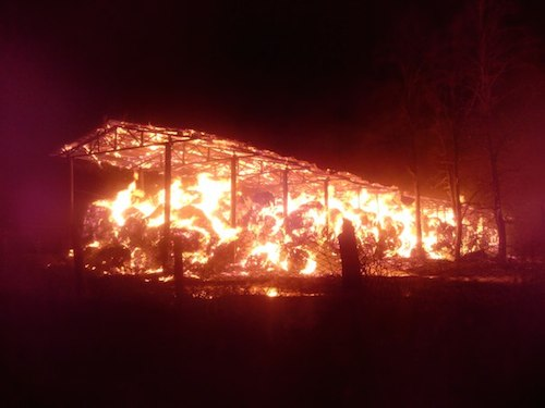 Пожар в Кызыл-Озеке