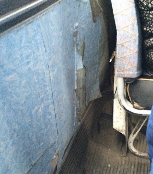 Горожан возят дырявые автобусы
