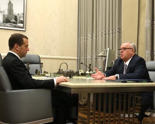 Александр Бердников встретился с Дмитрием Медведевым