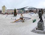 Конец декабря в Горно-Алтайске: дождь, снег и гроза