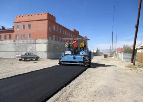 Строительство дороги и парковки у райотдела полиции в Кош-Агаче