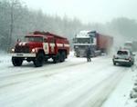 Дальнобойщик поблагодарил спасателей, не давших ему замерзнуть на трассе
