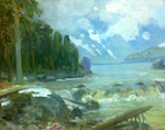 Внук писателя Овалова подарил Республике Алтай неизвестную ранее картину Чорос-Гуркина