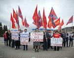 «Руки прочь от Сопиной»: Активисты «Родины» провели пикет в Горно-Алтайске