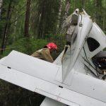 Разбившийся самолет. Фото: пресс-служба ГУ МЧС по Республике Алтай