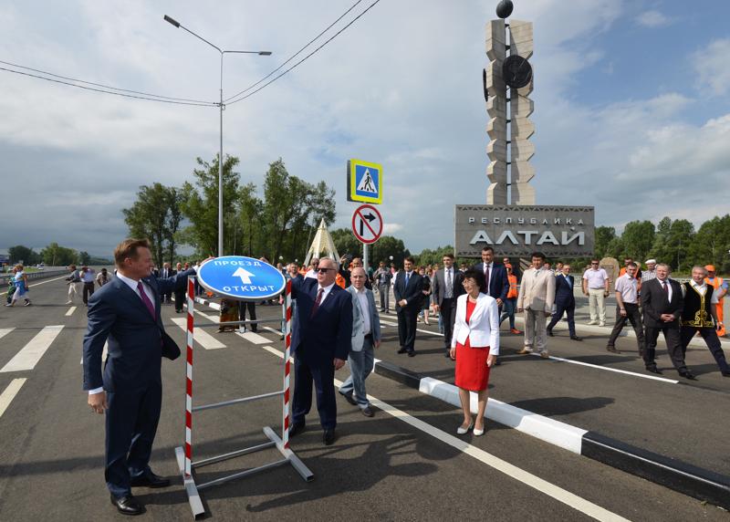 Участок Чуйского тракта на въезде в республику сдан в эксплуатацию