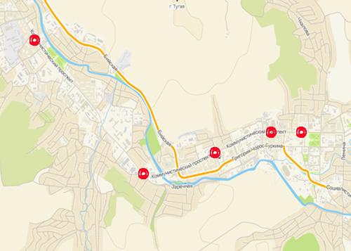 Пять мест концентрации ДТП в Горно-Алтайске
