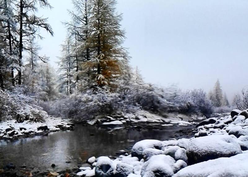 В горах Алтая выпал первый снег
