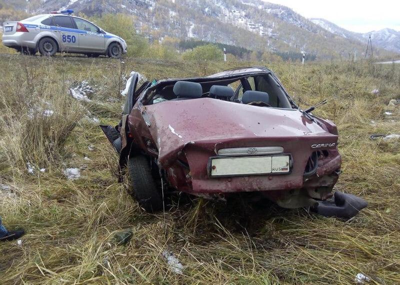 Шофёр джипа без прав устроил смертельное ДТП валтайских горах