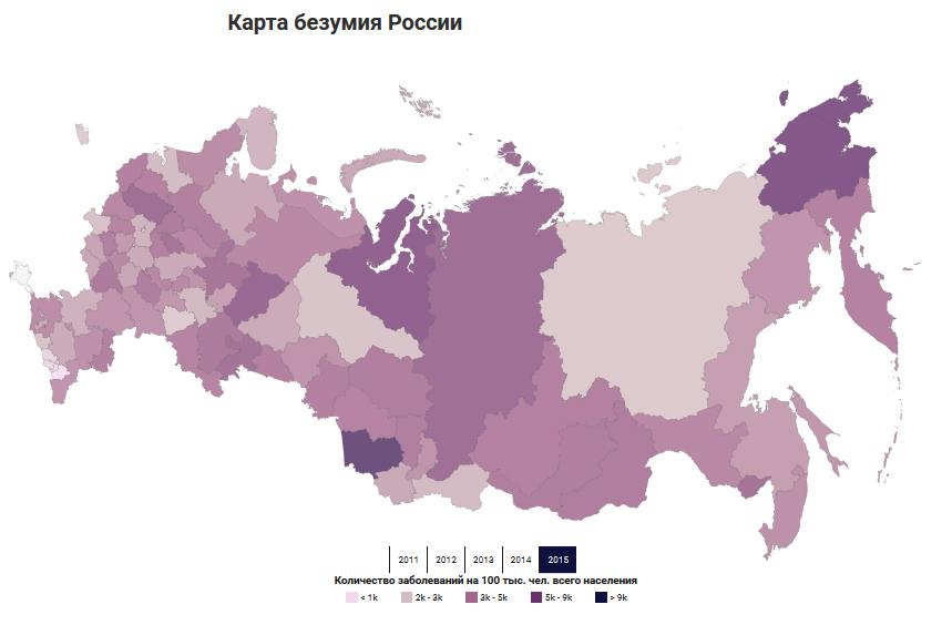 Алтайский край оказался самым «сумасшедшим» регионом страны