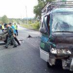 В Баранголе турист на квадроцикле врезался в микроавтобус