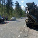 Бетономешалка стала причиной аварии в Майминском районе