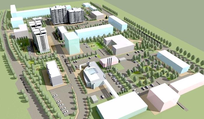 В центре Горно-Алтайска построят шесть многоэтажек, спортзал и детский сад