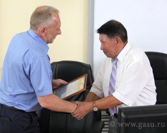 В ГАГУ проводили на заслуженный отдых Степана Тюхтенева