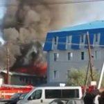 Пожарные спасли от огня «Русскую охоту» (видео)