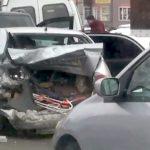 Пьяный водитель спровоцировал массовую аварию с участием семи автомобилей