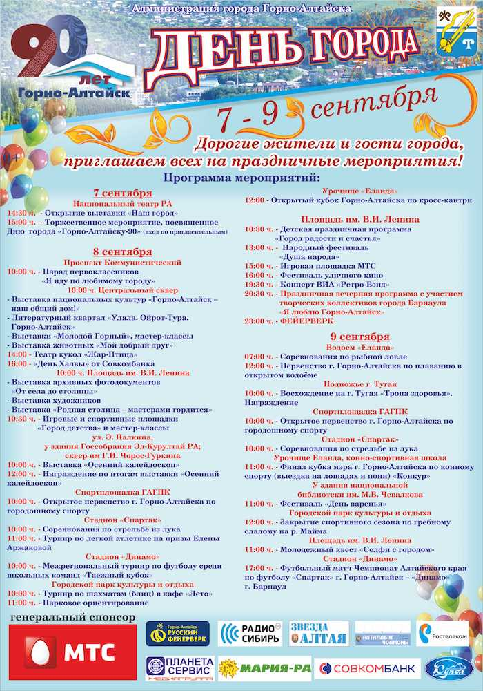 День города отпразднуют на выходных (программа мероприятий)
