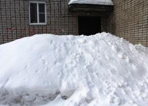 Занесенный снегом Горно-Алтайск, начало января 2017 года