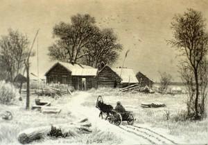 И.И. Шишкин. Зимний деревенский пейзаж