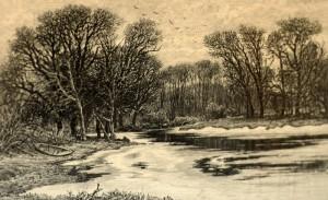 И.И. Шишкин. Осень. Замерзшая река